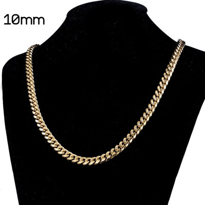 The 18K Cuban Chain (8mm - 14mm) - Mancessorize