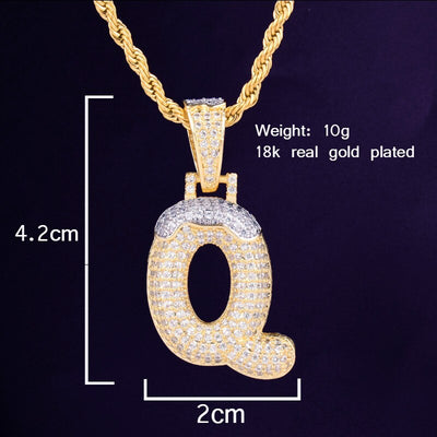 The Snow Capped Gold Plated Custom Bubble Chain - Mancessorize
