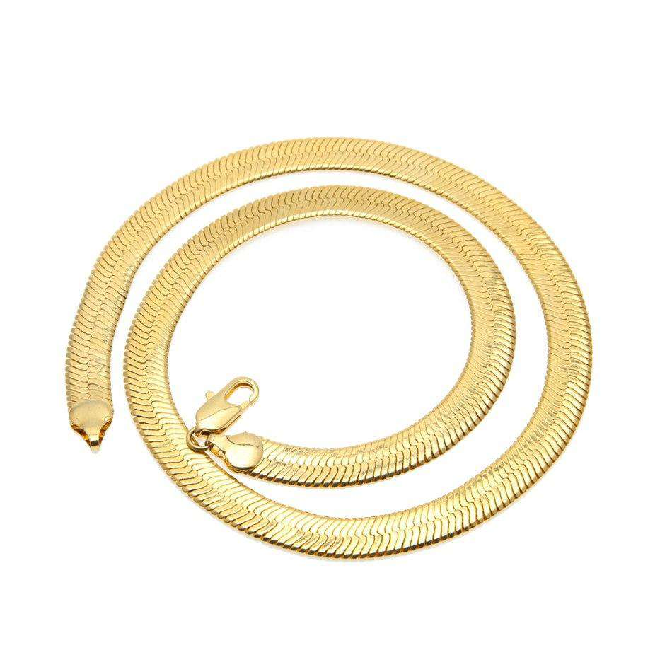 The 24K Gold Plated Herringbone Chain - Mancessorize