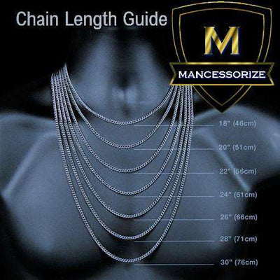 The Two Tone Crown Bail Bubble Chain - Mancessorize