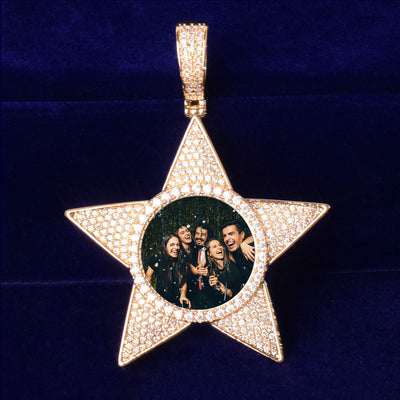 Custom Star Photo Pendant - Mancessorize