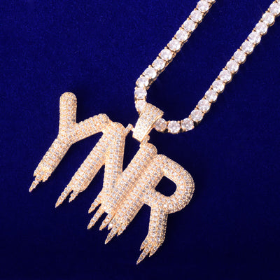 The Dripping Custom Bubble Chain - 24K Gold Plated - Mancessorize