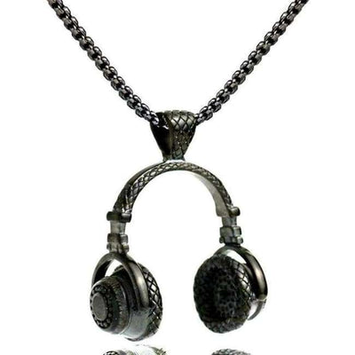 DJ Beats Headphones Pendant Chain - Mancessorize