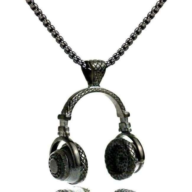 DJ Beats Headphones Pendant Chain