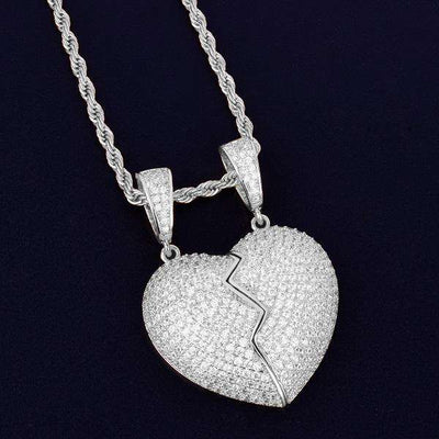 The 2 Piece Heart Pendant - Mancessorize