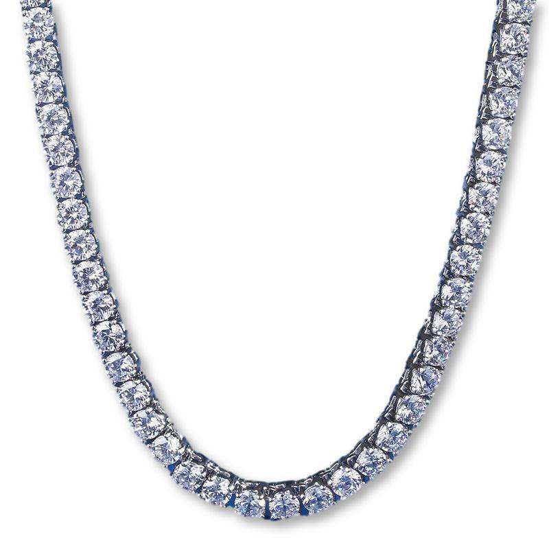 The 4mm Platinum Plated Tennis Chain - Mancessorize