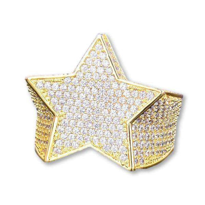 The Shooting Star Ring - 18K Gold Plated - Mancessorize