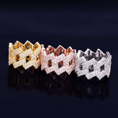 The Iced Out Curb Ring - Rose Gold - Mancessorize