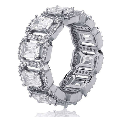 The Baguette Ring - Platinum plated - Mancessorize