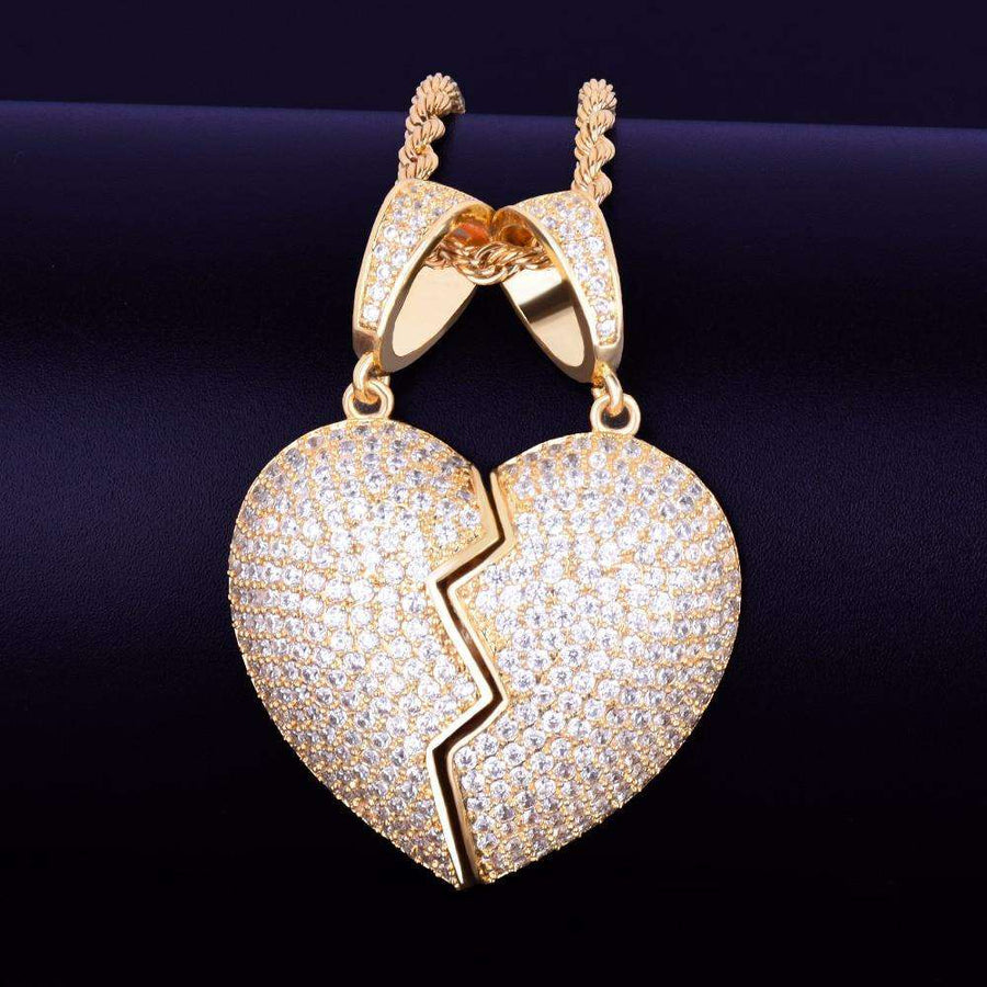 The 2 Piece Heart Pendant