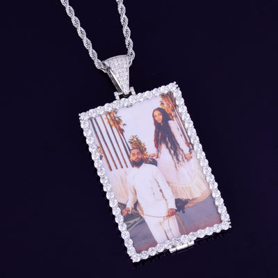 Custom Photo Pendant Rectangle - Mancessorize