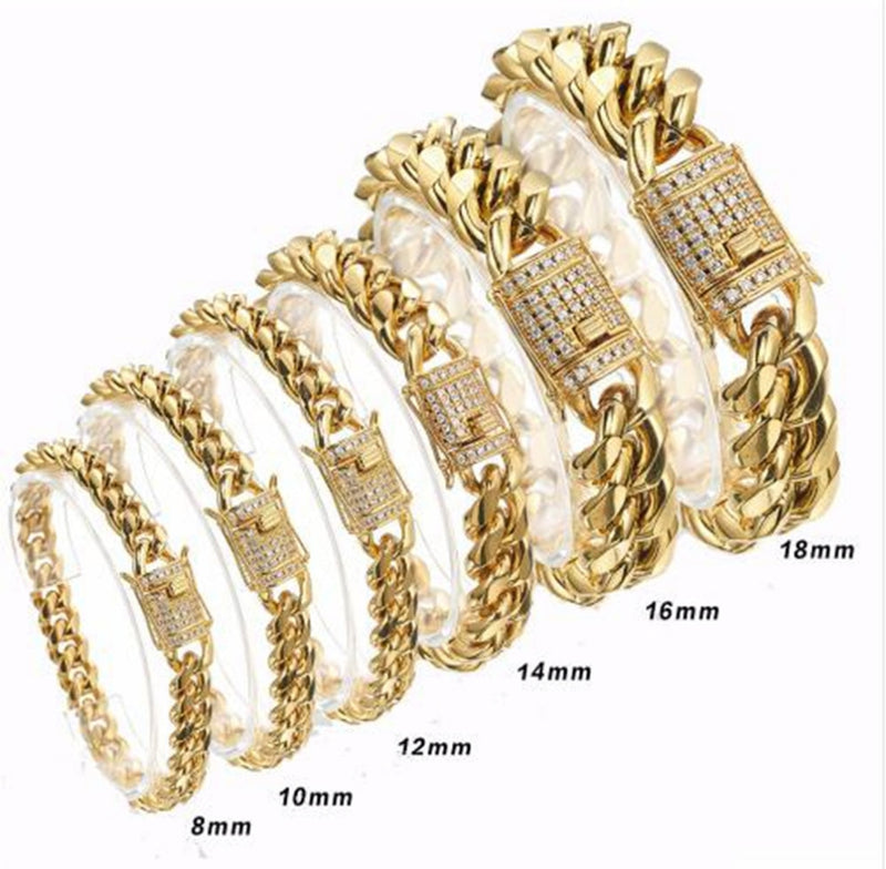 The 18K Cuban Link Bracelet - Mancessorize