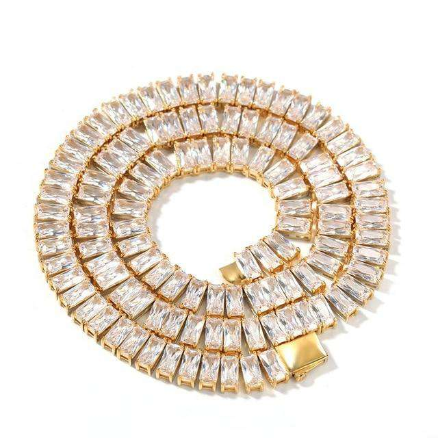 The Baguette Tennis Chain - 18K Gold Plated - Mancessorize