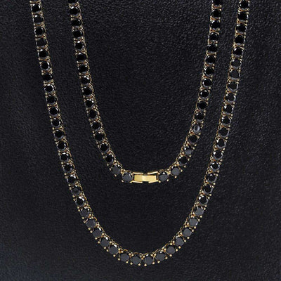 The Black/Gold Tennis Chain - Mancessorize