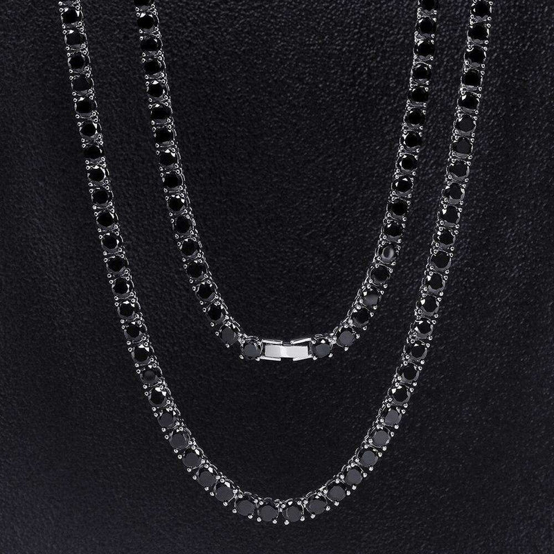 The Black/Platinum Tennis Chain - Mancessorize