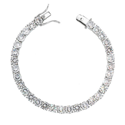 6mm 925 Sterling Silver Tennis Bracelet - Mancessorize