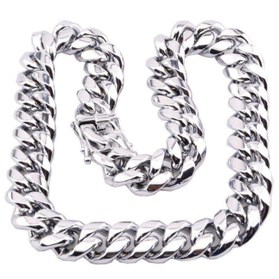 The Stainless Steel Cuban Curb Chain - 8mm - 18mm - Mancessorize