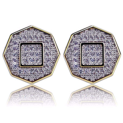 The Octagon Iced Out Earrings - Mancessorize