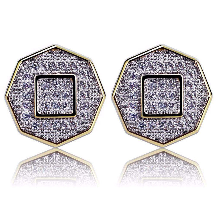The Octagon Iced Out Earrings