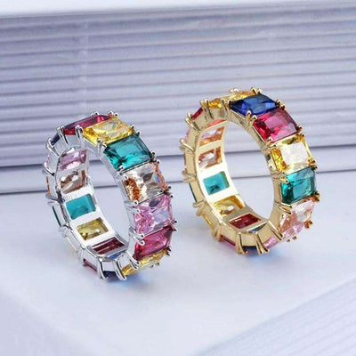 The Rainbow Ring - 18K Gold plated - Mancessorize