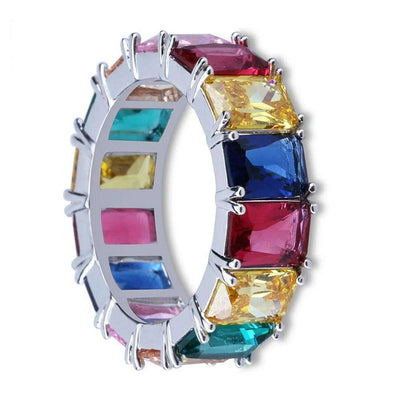 The Rainbow Ring - Silver - Mancessorize