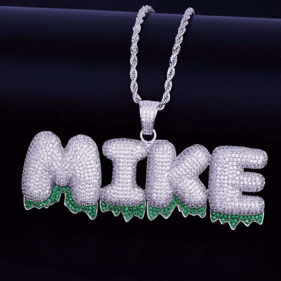 The Silver Green Drip Bubble Chain - Mancessorize