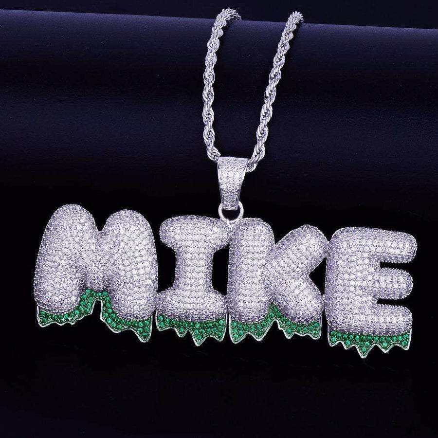 The Silver Green Drip Bubble Chain