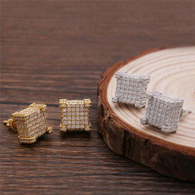 The Iced Out Castle Earrings - Mancessorize