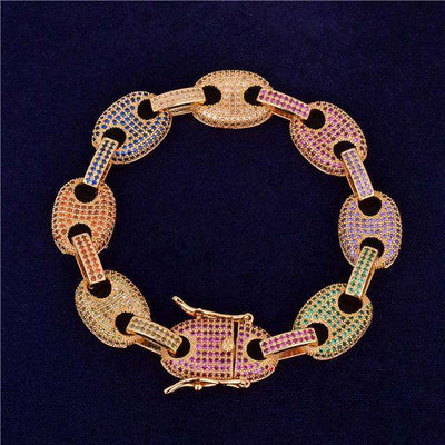 The Gold Rainbow G-Link Bracelet - Mancessorize