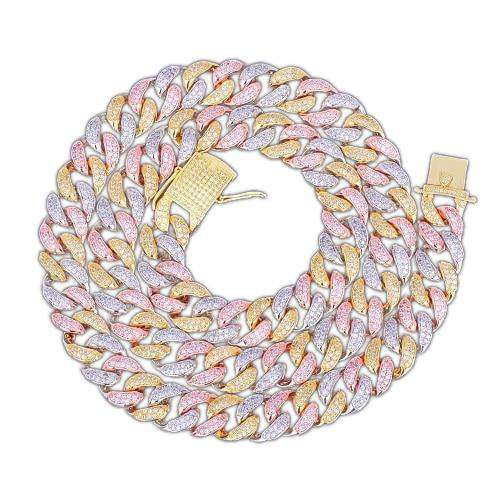 The 12mm Multi Color Cuban Chain - Mancessorize