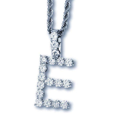 Single Letter Silver Tennis Bubble Chain - Mancessorize