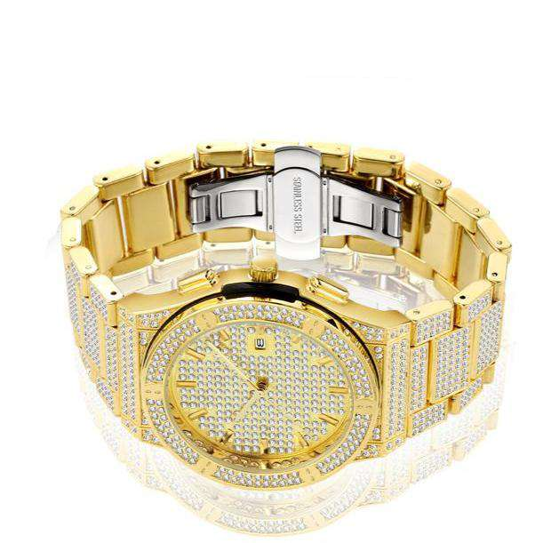 The Classic Iced Out Watch - Gold