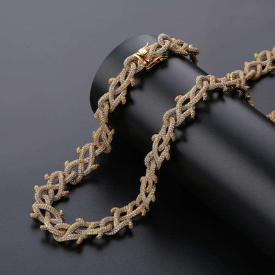 The Barbed Wire Chain - Gold - Mancessorize