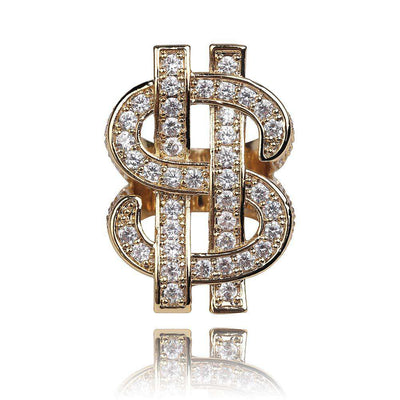 The Dollar Sign Ring - 18K Gold plated - Mancessorize