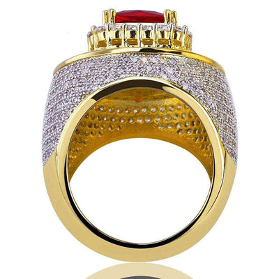 Red Stone Bling Ring - Mancessorize