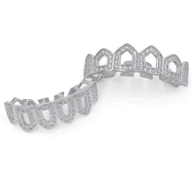 Silver Hollow Iced out Grillz - Mancessorize
