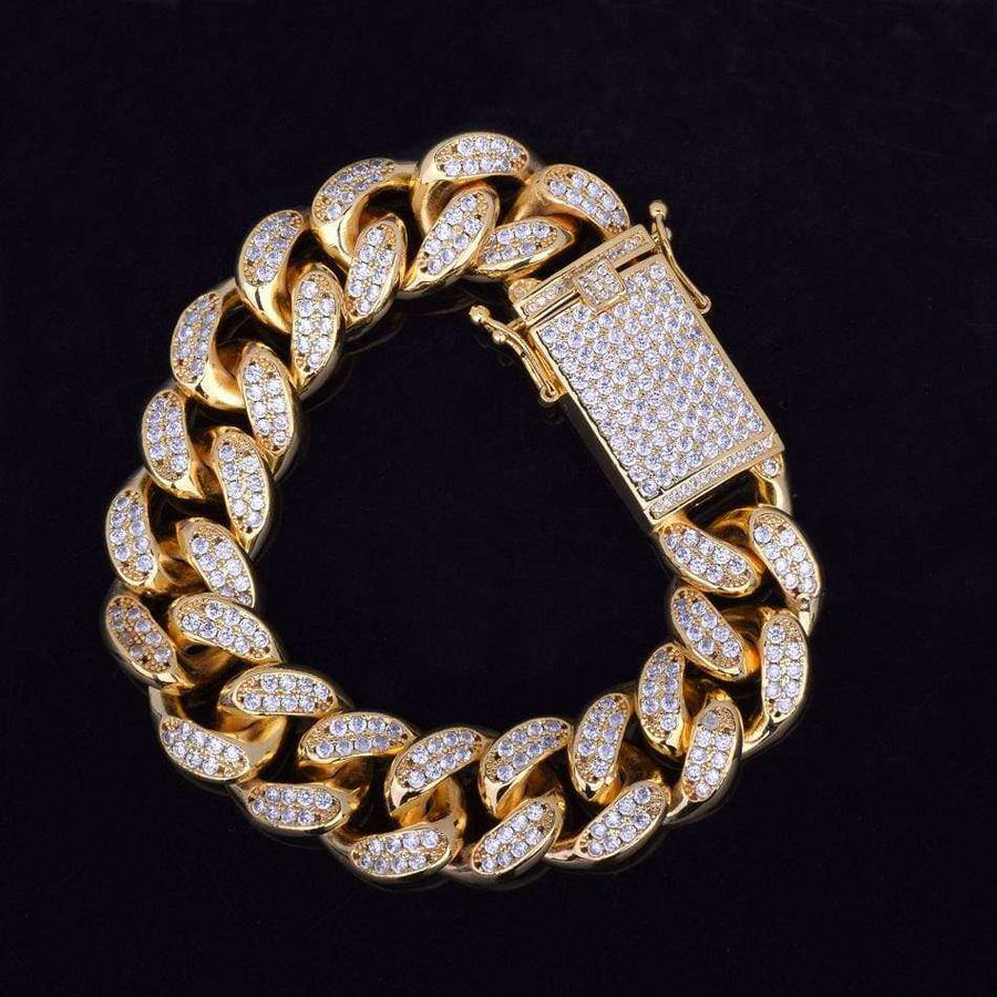 The 18MM chunky Iced Out Miami Cuban Bracelet - Mancessorize