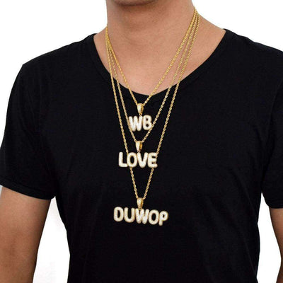 The 24K Gold Plated Custom Slim Bubble Chain - Mancessorize