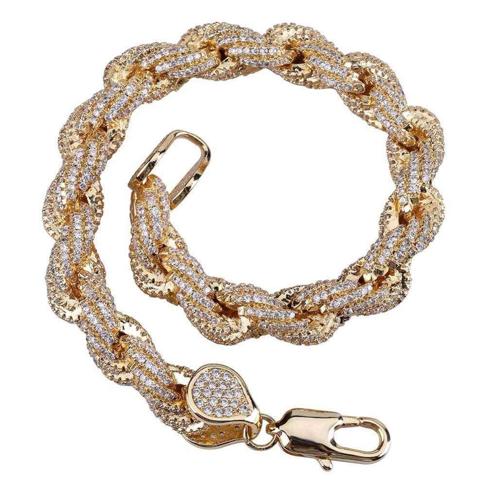 The 24K Iced Out Rope Bracelet - Mancessorize