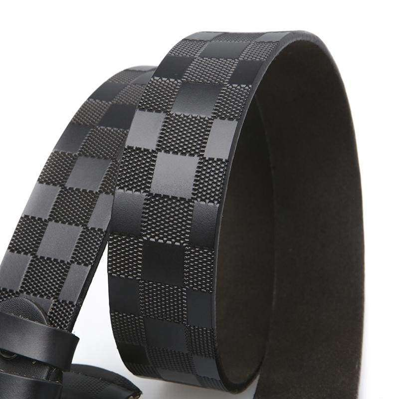 The Black Plaid Belt