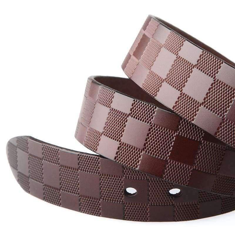 The Coffee Brown Plaid Belt