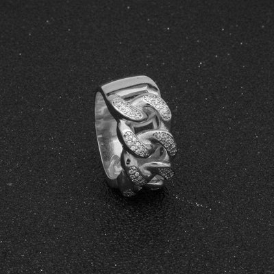 The Cuban Link Ring - Silver - Mancessorize