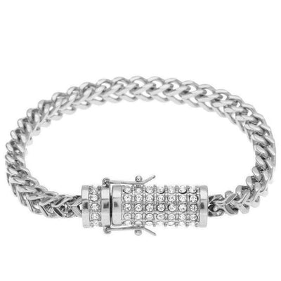 The Stainless Steel Franco Bracelet - Mancessorize
