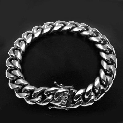 The Stainless Steel Miami Cuban Bracelet 8mm - 14mm - Mancessorize
