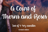 A Court of Thorns and Roses Set | ACOTAR Scented Soy Candle