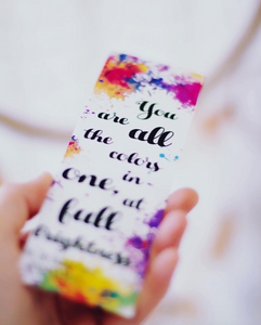 You Are All the Colors | All The Bright Places Bookmark