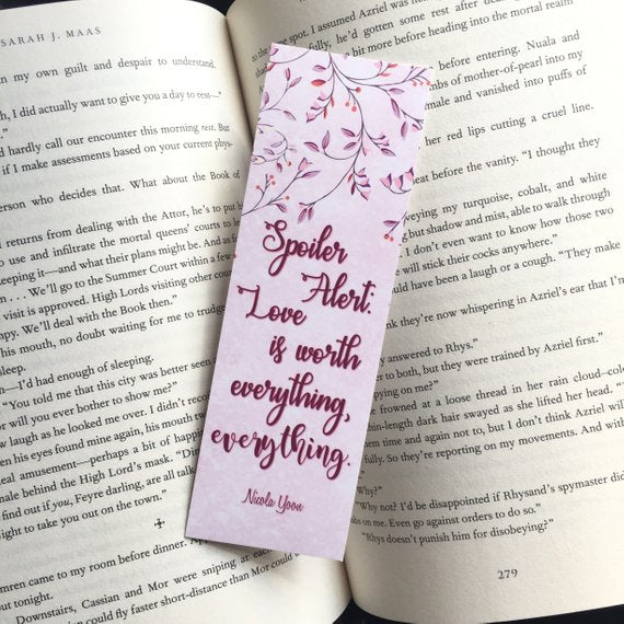 Spoiler Alert | Everything, Everything Bookmark