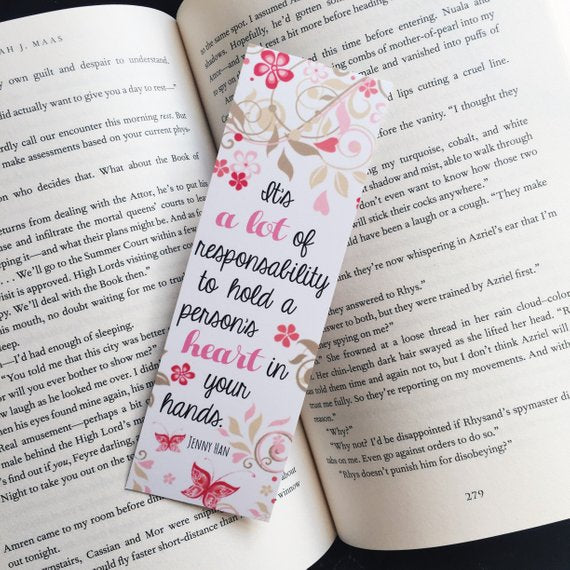 It's A Lot Of Responsability | To All The Boys I Loved Before Bookmark