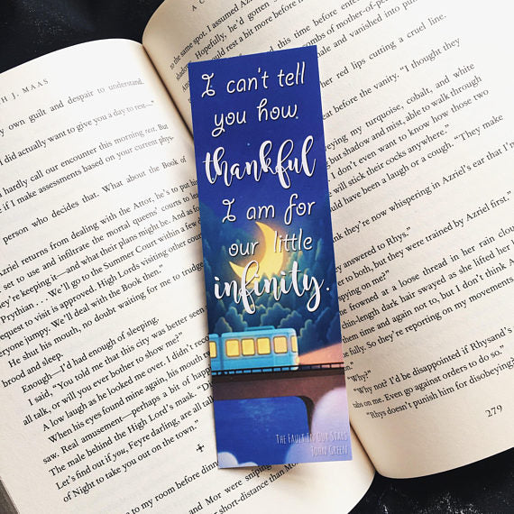 Our Little Infinity | The Fault In Our Stars Bookmark