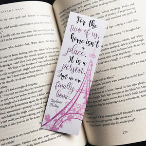 Home is a Person | Anna and the French Kiss Bookmark